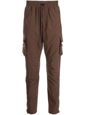 Brązowe spodnie z nylonu Represent