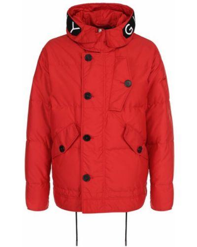Куртка с капюшоном с вышивкой пуховая Givenchy