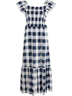 Хлопковое платье с принтом с оборками Sea
