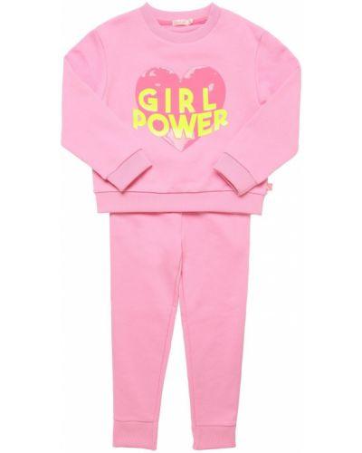 Флисовые спортивные брюки - розовые Billieblush