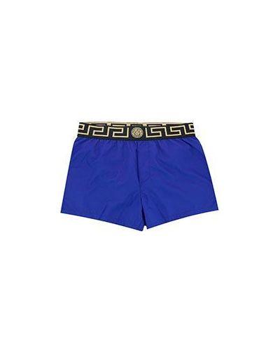 Голубые шорты летние Versace