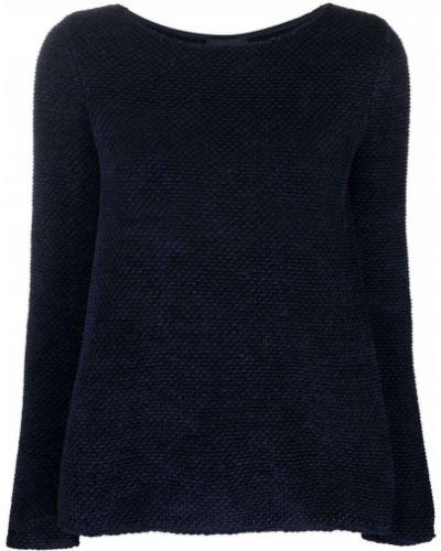 Топ с длинными рукавами - синий Emporio Armani