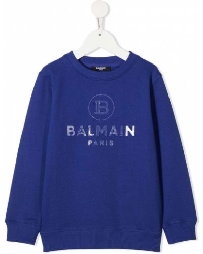 Bawełna bawełna niebieski bluza z długimi rękawami Balmain Kids