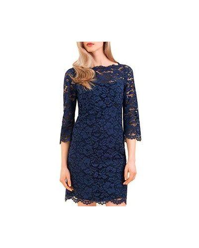 Вечернее платье синее Luisa Spagnoli