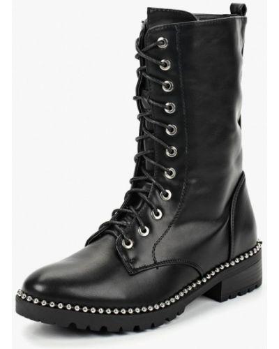 Кожаные ботинки осенние черные Bellamica