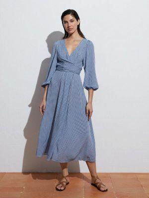 Голубое платье осеннее Oysho