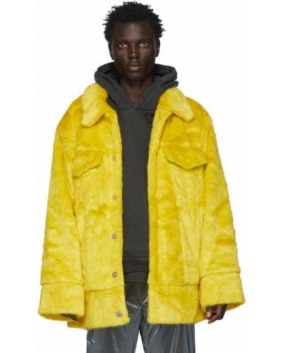 Żółta długa kurtka z długimi rękawami srebrna Landlord
