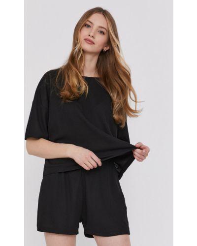 Czarna piżama bawełniana krótki rękaw Answear Lab