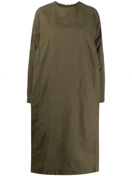 Зеленое платье макси оверсайз с длинными рукавами круглое Casey Casey