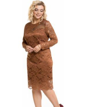 Коктейльное платье сетчатое через плечо Novita