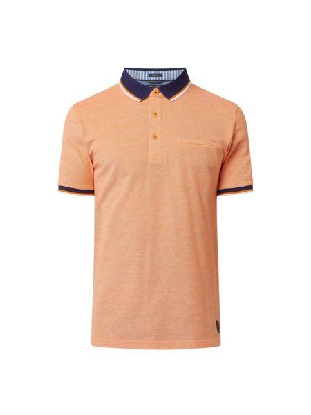 T-shirt bawełniana - pomarańczowa Pierre Cardin