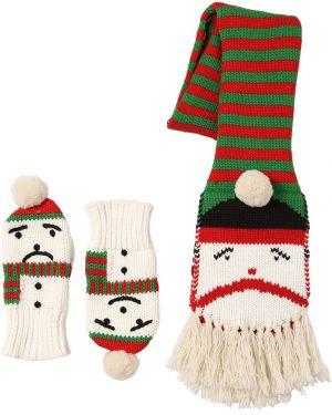 Prążkowane rękawiczki bawełniane Stella Mccartney Kids