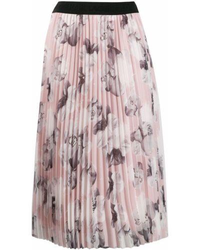 Плиссированная юбка с цветочным принтом с завышенной талией Karl Lagerfeld
