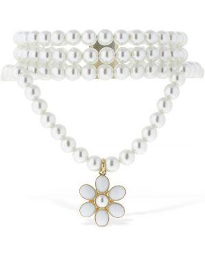 Biały choker srebrny perły Rowen Rose