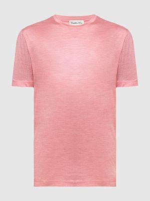 Шелковая футболка - красная Castello D'oro
