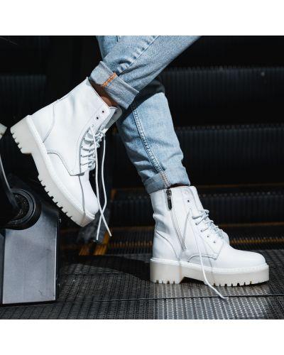 Кожаные ботинки - белые Arcoboletto