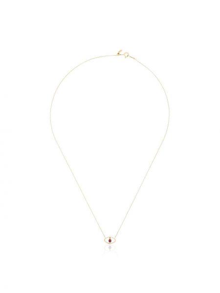 Ażurowy żółty złoty naszyjnik łańcuch Persée