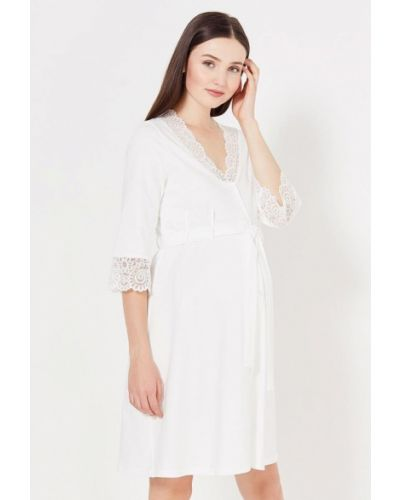 Домашний халат - белый Hunny Mammy