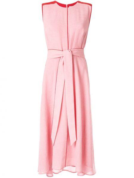 Розовое платье миди с поясом Cefinn