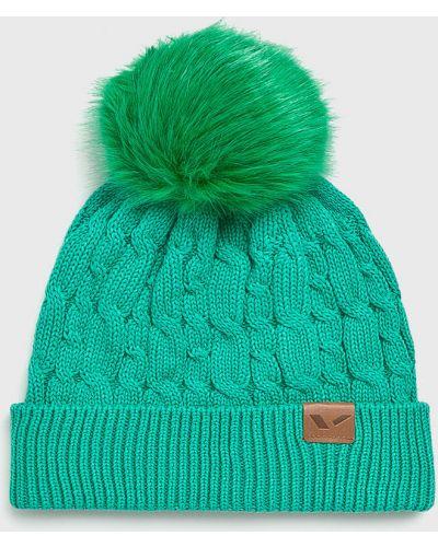 Зимняя шапка хлопковая с помпоном Viking
