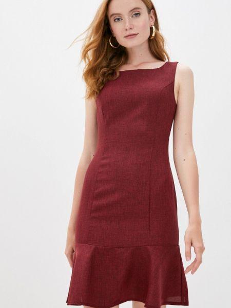 Бордовое повседневное платье Maurini