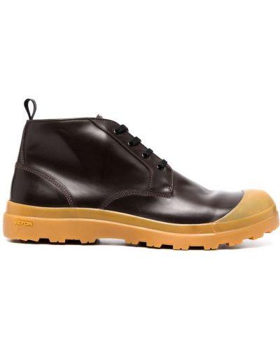 Коричневые кружевные ботинки Officine Creative