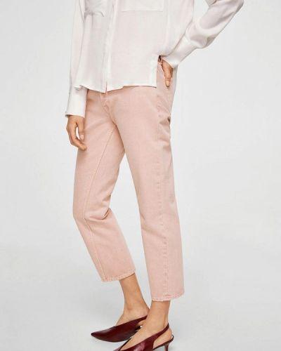 Розовые брюки прямые Mango