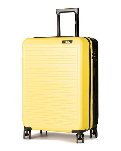Żółta walizka średnia National Geographic