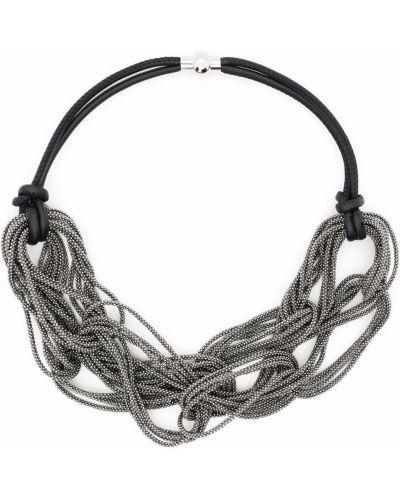 Черное кожаное ожерелье Fabiana Filippi