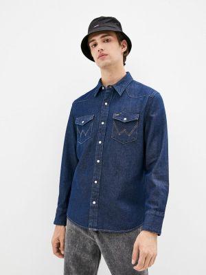 Синяя зимняя рубашка Wrangler