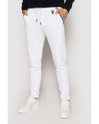 Białe spodnie dresowe Karl Lagerfeld