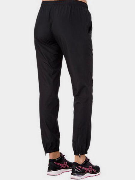 Спортивные брюки из полиэстера - черные Asics