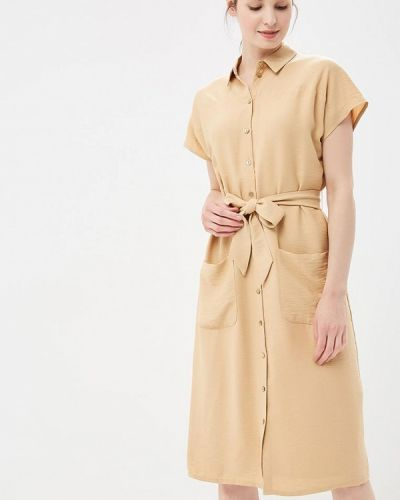 Бежевое платье рубашка Akhmadullina Dreams