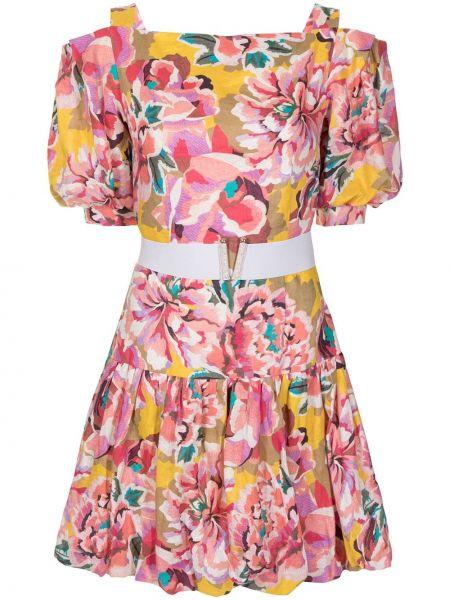 Расклешенное с рукавами платье мини с оборками Ginger & Smart