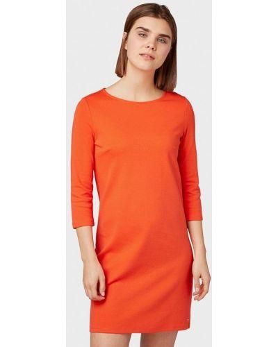 Джинсовое платье - оранжевое Tom Tailor Denim