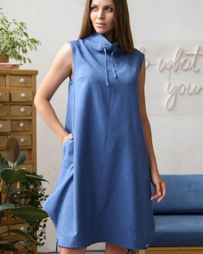 Прямое платье миди в стиле бохо с воротником с карманами Ellcora
