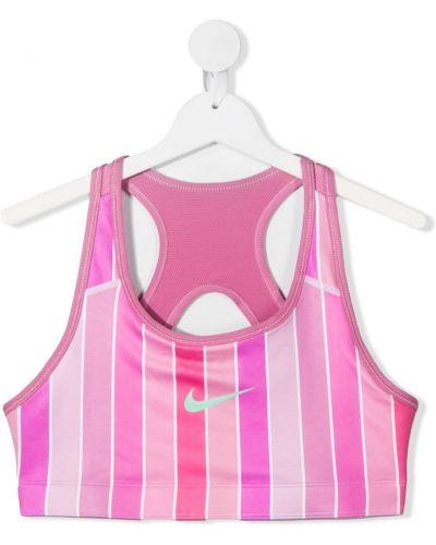 Розовый спортивный топ без рукавов с вырезом Nike Kids