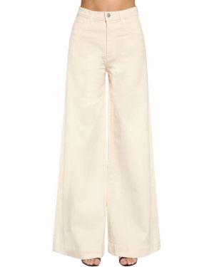 Бежевые с завышенной талией широкие джинсы с карманами J Brand
