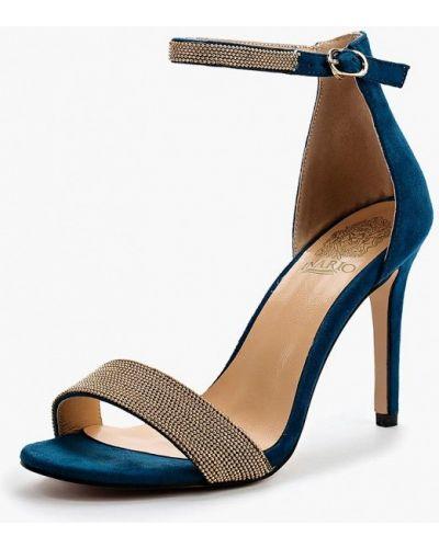 Бирюзовые босоножки на каблуке Inario