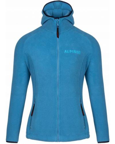 Niebieska bluza z kapturem polarowa Alpinus