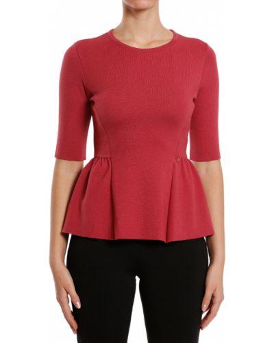 Блузка из вискозы красная Elisabetta Franchi