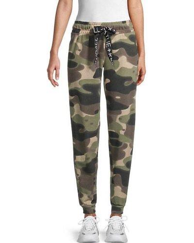 Зеленые брюки с карманами с манжетами Kendall + Kylie