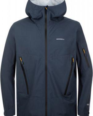 Прямая синяя куртка с капюшоном на молнии туристическая Merrell