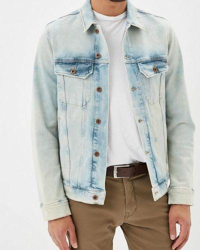 Голубая джинсовая куртка Mustang