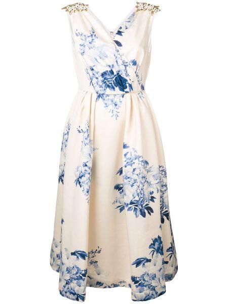 Sukienka kopertowa bez rękawów bawełniana Antonio Marras