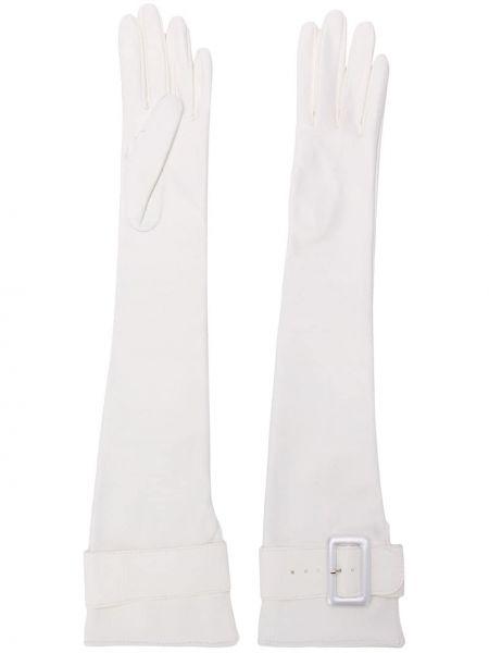 Skórzany rękawiczki długo rozciągać Manokhi