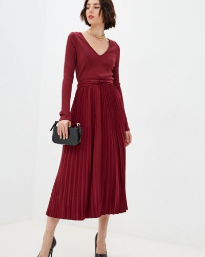Джинсовое платье - бордовое Guess Jeans