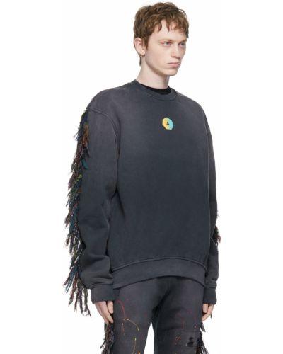 Czarna bluza długa vintage z długimi rękawami Alchemist