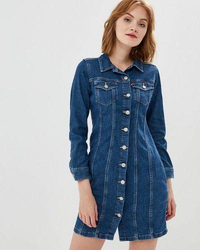 Джинсовое платье осеннее синее Levi's®