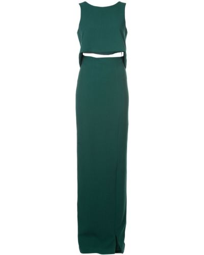 Однобортное платье макси с вырезом на молнии Black Halo